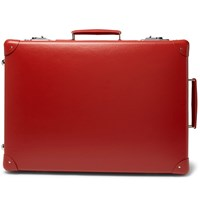 Globe Trotter 20 Leather Trimmed Suitcase Red