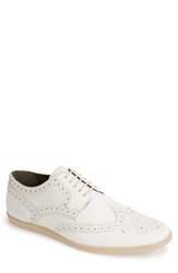 Base London 'Shore' Leather Wingtip Men Off White Softy