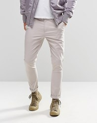 Asos Super Skinny Chinos In Light Gray Silver Cloud