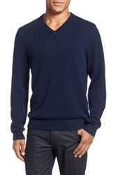 Nordstrom Cashmere V Neck Sweater Regular And Tall Blue