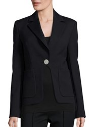 Diane Von Furstenberg Flynn Patch Pocket Blazer Black