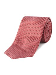 Hugo Textured Diamond Tie Red