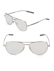 Paul Smith Davison 58Mm Aviator Eyeglasses Silver