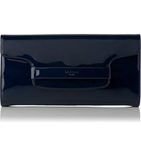 Lk Bennett Laura Patent Leather Clutch Blu Navy