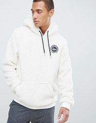 Hype Hoodie In White Borg