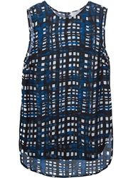 Thakoon Addition Plaid Tank Top Blue
