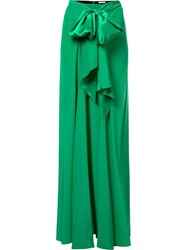 Tome 'Charmeuse Long Bow Front' Skirt Green