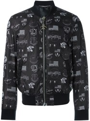 Philipp Plein 'Heathrow' Bomber Jacket Black