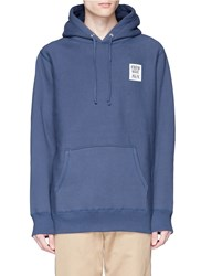 Know Wave 'Public Domain' Print Hoodie Blue
