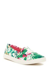 Madden Girl Sail Tropical Print Sneaker Green