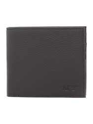 Armani Jeans Leather Aj Logo Wallet With Coin Pocket Black