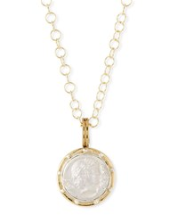 Dina Mackney Roman Coin Necklace Gold
