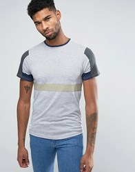 Native Youth Colour Block T Shirt Grey