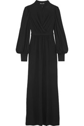 Alexander Mcqueen Layered Stretch Jersey Gown Black