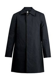 Kilgour Bonded Cotton Water Resistant Overcoat Navy