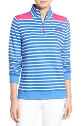 Women's Vineyard Vines 'Shep Nautical Stripe' Quarter Zip Pullover