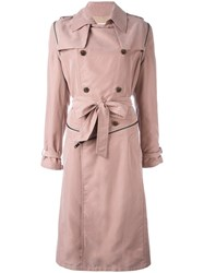 A.F.Vandevorst 'Moment' Trenchcoat Pink Purple