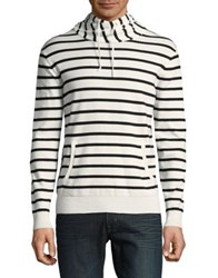 Black Brown Stripe Turtleneck Sweater Vanilla