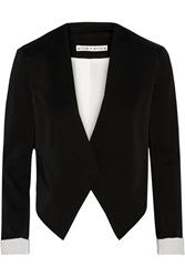 Alice Olivia Mailynn Cropped Crepe Blazer