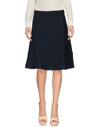 Selected Femme Knee Length Skirts Dark Blue