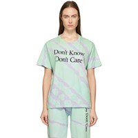 Ashley Williams Green Tie Dye 'Don't Know' T Shirt