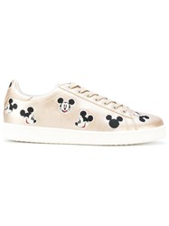 Moa Master Of Arts Mickey Mouse Print Sneakers Leather Polyester Rubber Metallic
