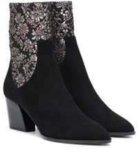 Pierre Hardy Rodeo Suede Ankle Boots Black