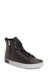 Women's Blackstone 'Kl57' High Top Sneaker Black Metallic Leather