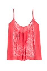 Mes Demoiselles Printed Cotton Vest Top Red
