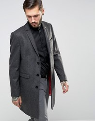 Noose And Monkey Overcoat Charcoal Grey