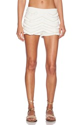 Wyldr Fringed Short Ivory
