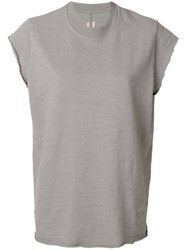 Rick Owens Drkshdw Classic Fitted T Shirt Women Cotton One Size Grey