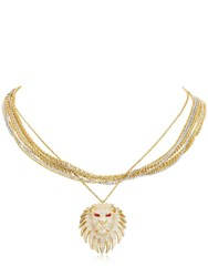 Apm Monaco Lioness Multi Chain Necklace Gold