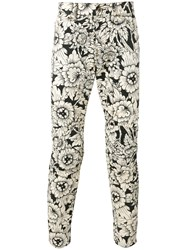 G Star Floral Print Trousers Nude Neutrals