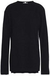 Duffy Pointelle Trimmed Cashmere Sweater Black