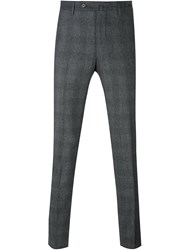 Pt01 Plaid Tapered Trousers Grey