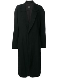 Y's Loose Overall Coat Black