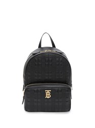 Burberry Monogram Plaque Quilted Backpack Black