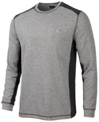 Greg Norman For Tasso Elba Colorblocked Thermal Shirt Only At Macy's Artic Black Opd