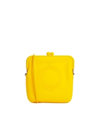 Liquorish Soft Rubber Cross Body Bag Yellow