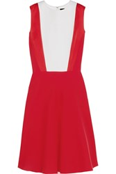 Jonathan Saunders Trinity Satin Trimmed Crepe Dress Red