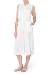 Catherine Malandrino Women's Bethea Crop Jumpsuit Empire White