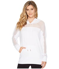 Onzie Mesh Long Sleeve Hoodie White Workout