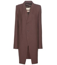 Rick Owens Wool Coat Brown