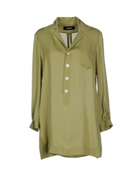 Dsquared2 Shirts Blouses Women Military Green