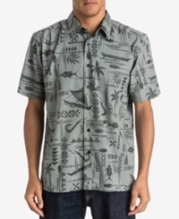 Quiksilver Men's Aberdeen Graphic Print Shirt Sma0 Moon