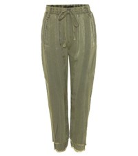 Haider Ackermann Cotton Track Pants Green