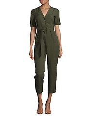 French Connection Trooper Solid Jumpsuit Dark Olive