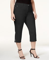Nydj Plus Size Ariel Embellished Cropped Jeans Black