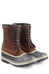 Sorel Leather Rubber All Weather Boot Brown